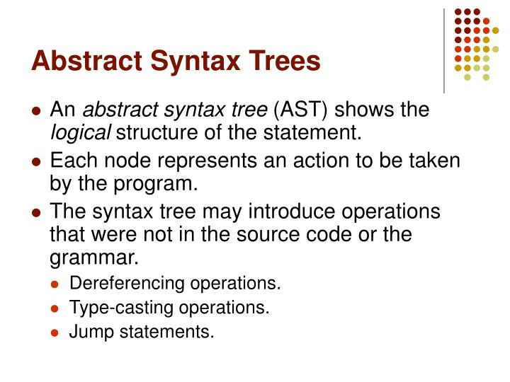 Abstract syntax trees1