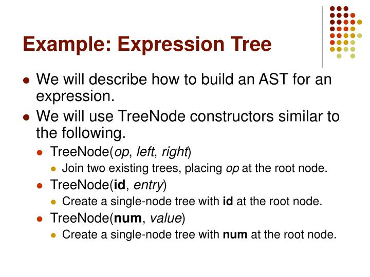 Example: Expression Tree