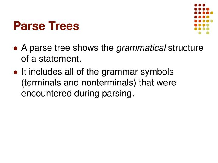 Parse Trees