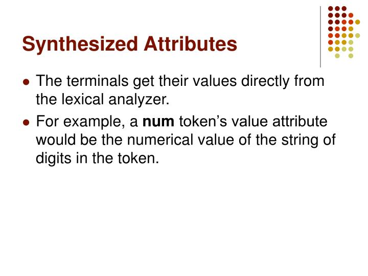 Synthesized Attributes
