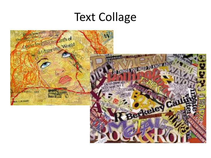 Text Collage