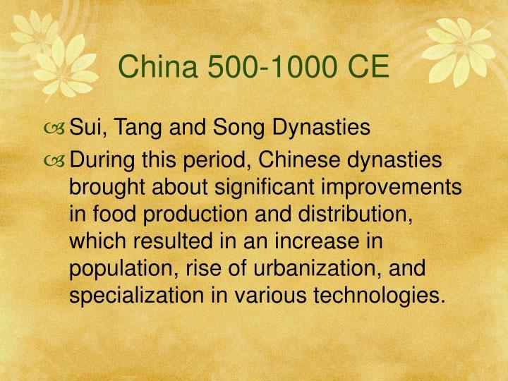 China 500-1000 CE