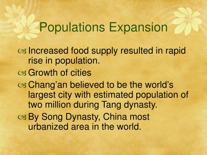 Populations Expansion
