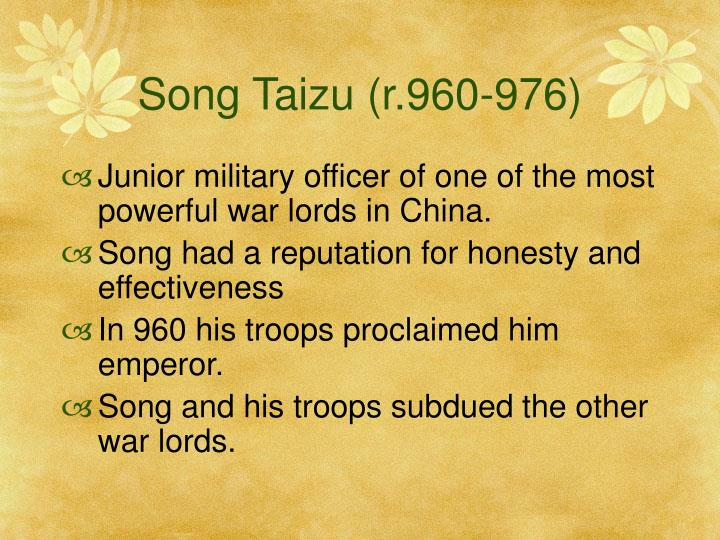 Song Taizu (r.960-976)