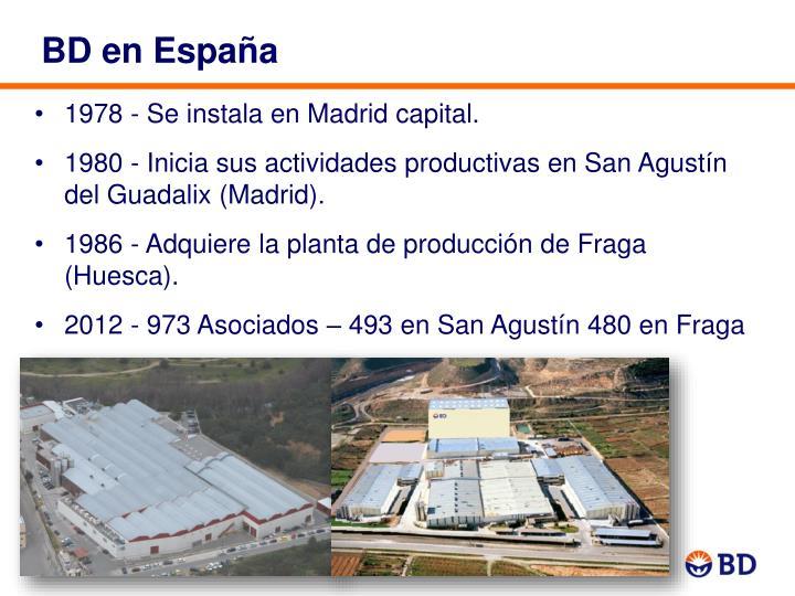 BD en España
