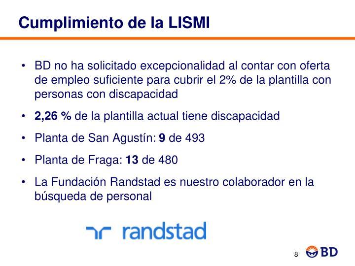 Cumplimiento de la LISMI