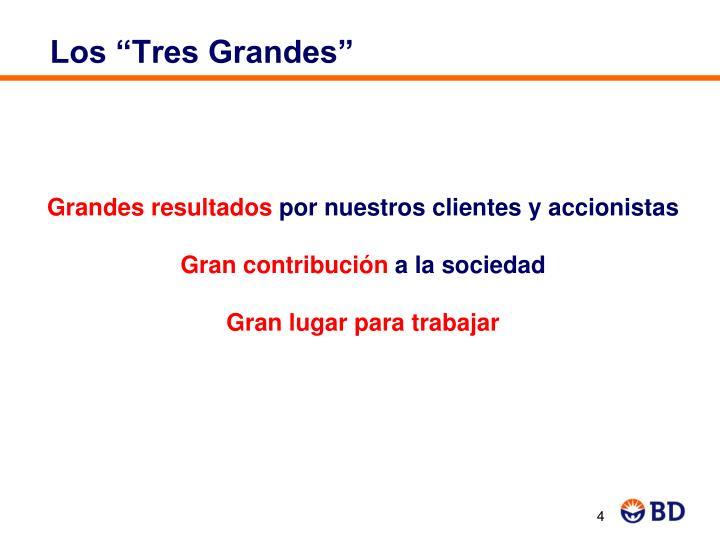 """Los """"Tres Grandes"""""""