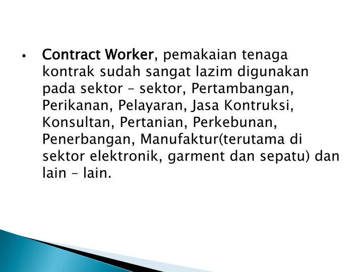 Contract Worker