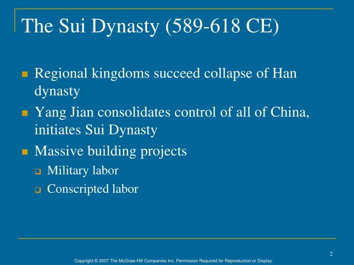The Sui Dynasty (589-618 CE)