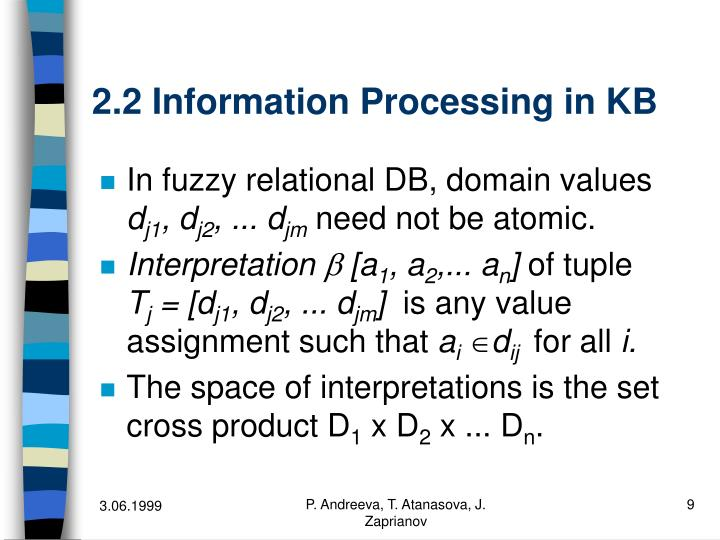 2.2 Information Processing in KB