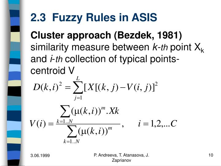 2.3  Fuzzy Rules in ASIS