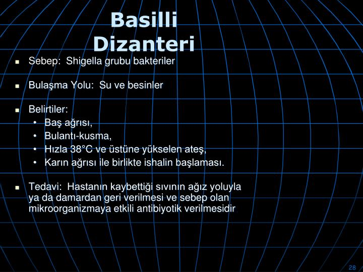 Basilli Dizanteri