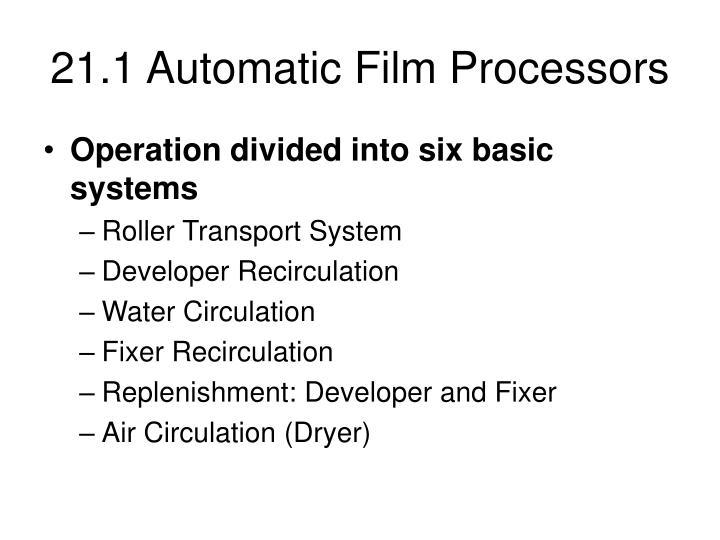 21.1 Automatic Film Processors