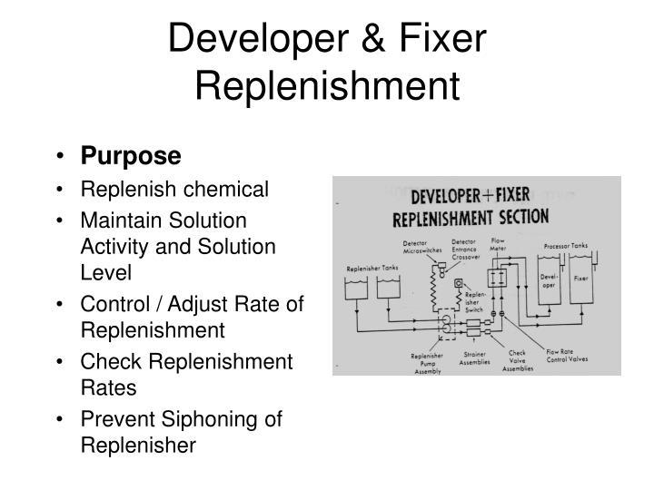 Developer & Fixer Replenishment