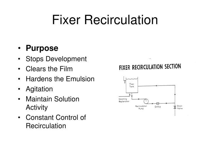 Fixer Recirculation
