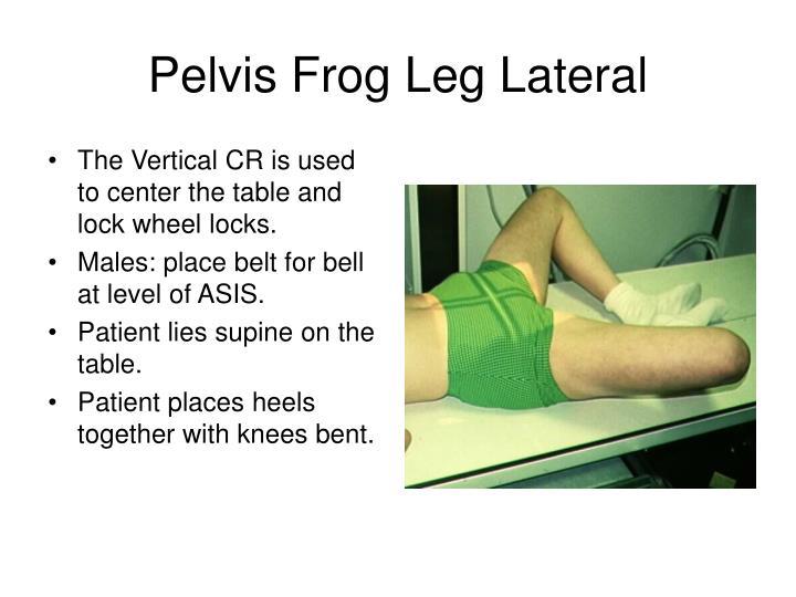 Pelvis Frog Leg Lateral