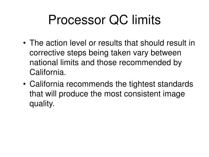 Processor QC limits