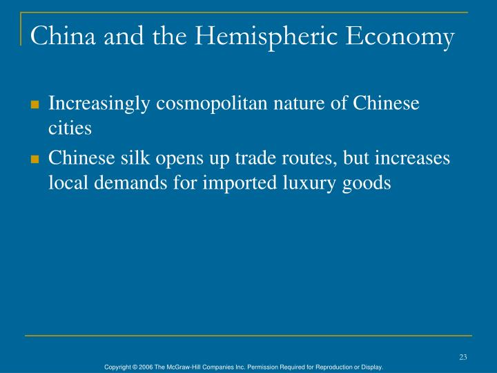 China and the Hemispheric Economy