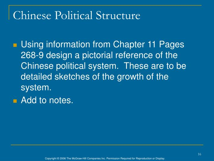Chinese Political Structure
