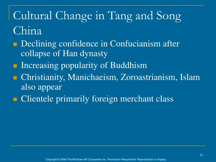 Cultural Change in Tang and Song China