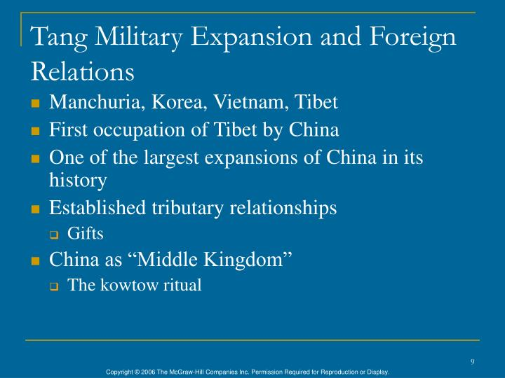 Tang Military Expansion and Foreign Relations