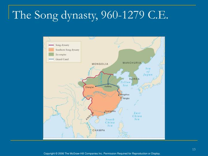 The Song dynasty, 960-1279 C.E.