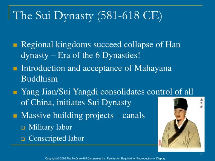The sui dynasty 581 618 ce