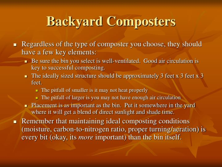 Backyard Composters