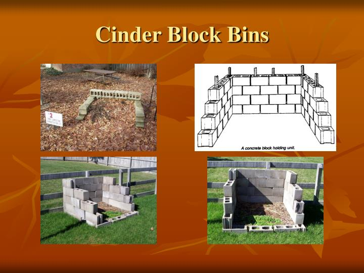 Cinder Block Bins