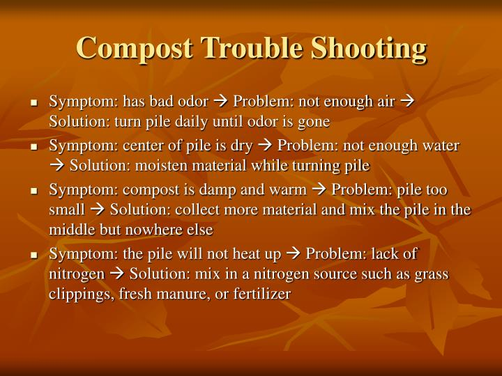 Compost Trouble Shooting