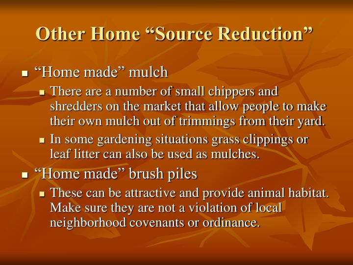 "Other Home ""Source Reduction"""