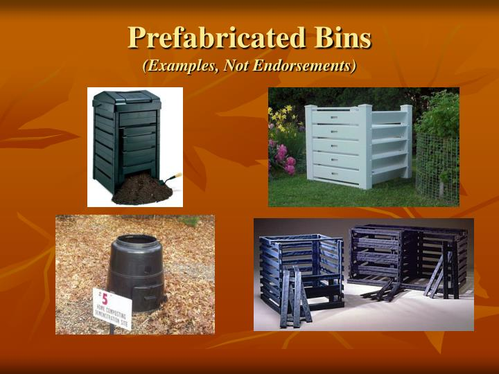 Prefabricated Bins