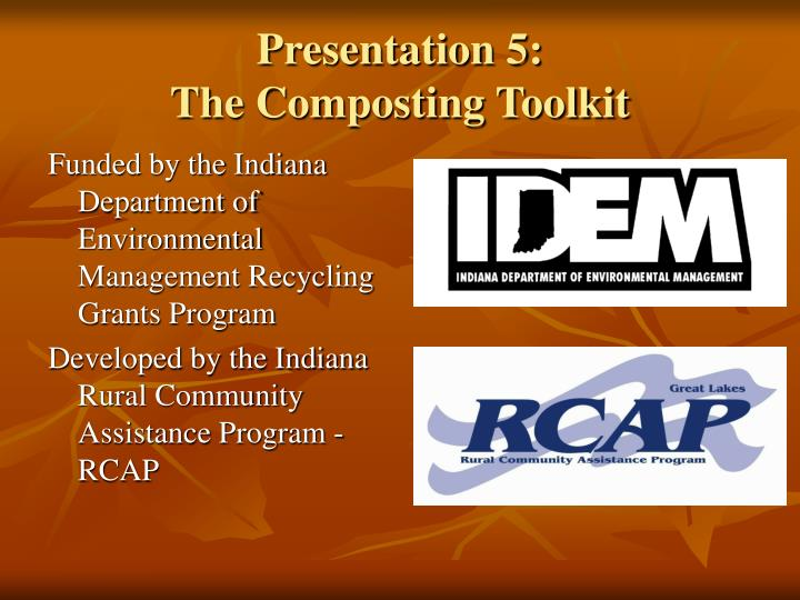 Presentation 5 the composting toolkit