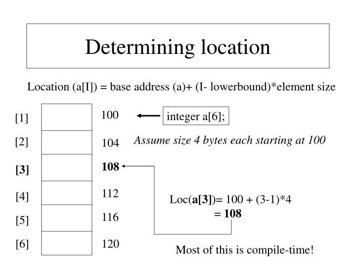 Determining location