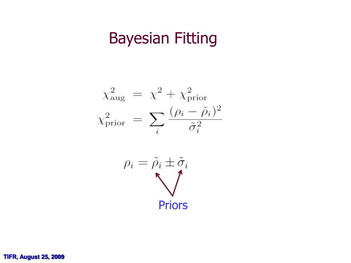 Bayesian Fitting
