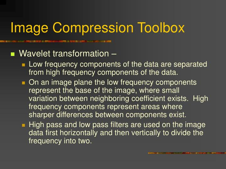Image Compression Toolbox