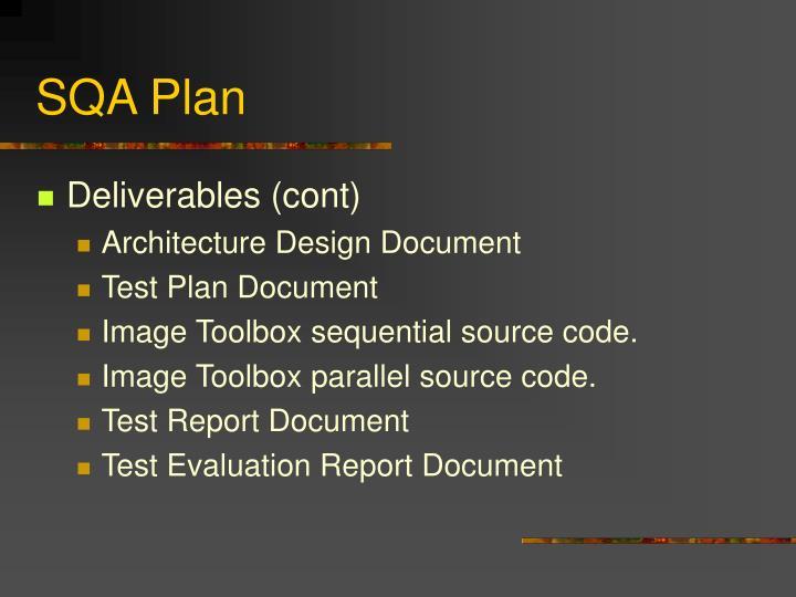 SQA Plan