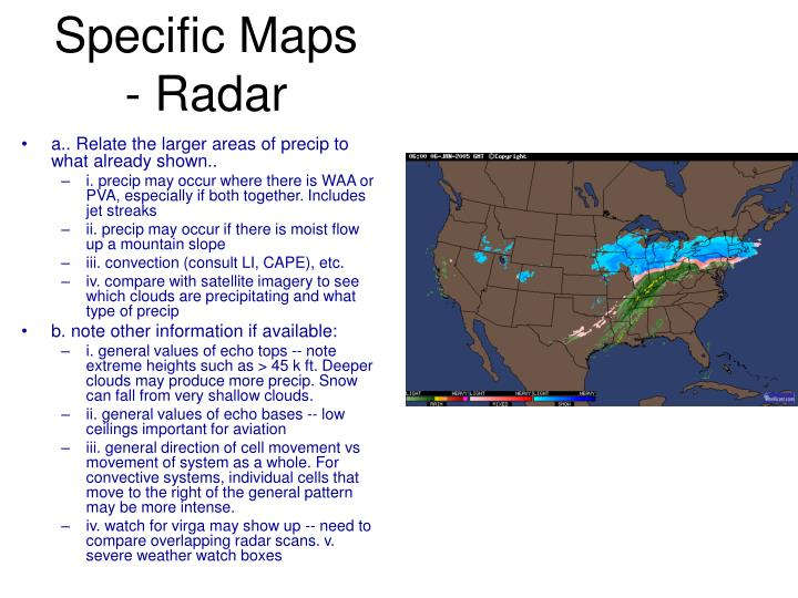 Specific Maps - Radar