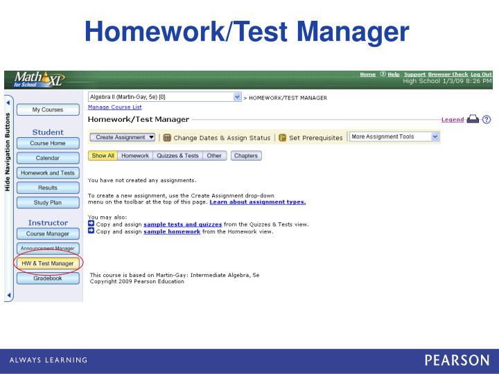 Homework/Test Manager