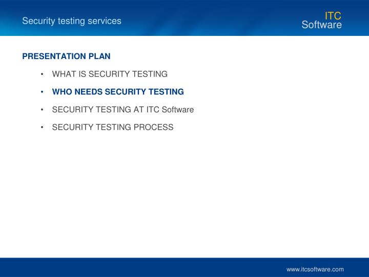 Security testing services
