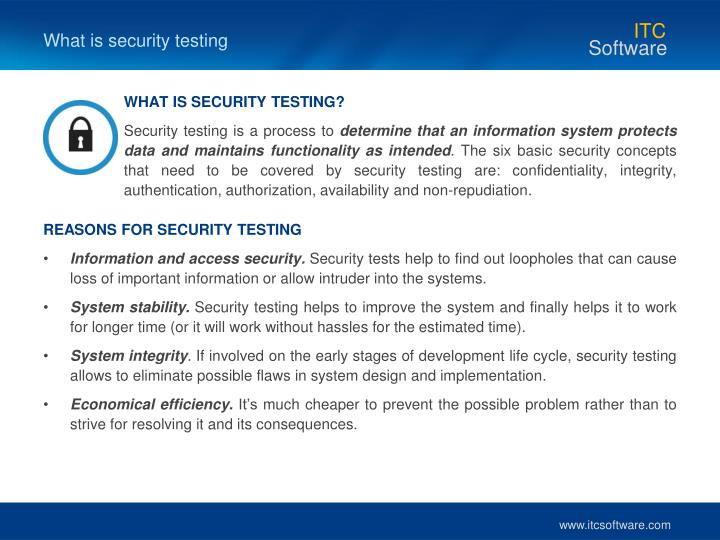 What is security testing