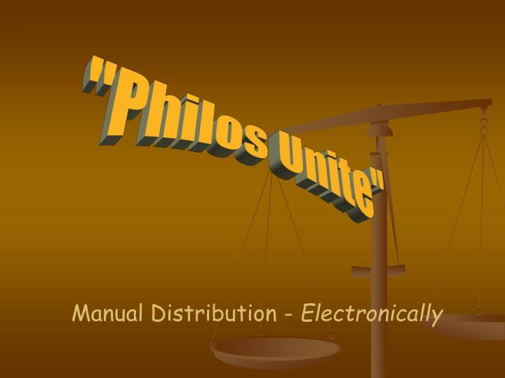 Manual Distribution -