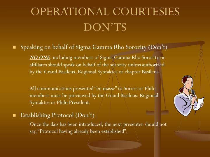 Speaking on behalf of Sigma Gamma Rho Sorority (Don't)