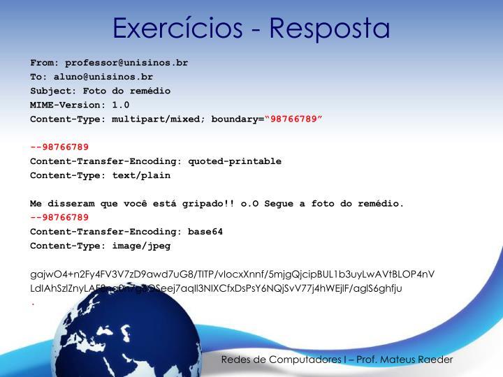 Exercícios - Resposta