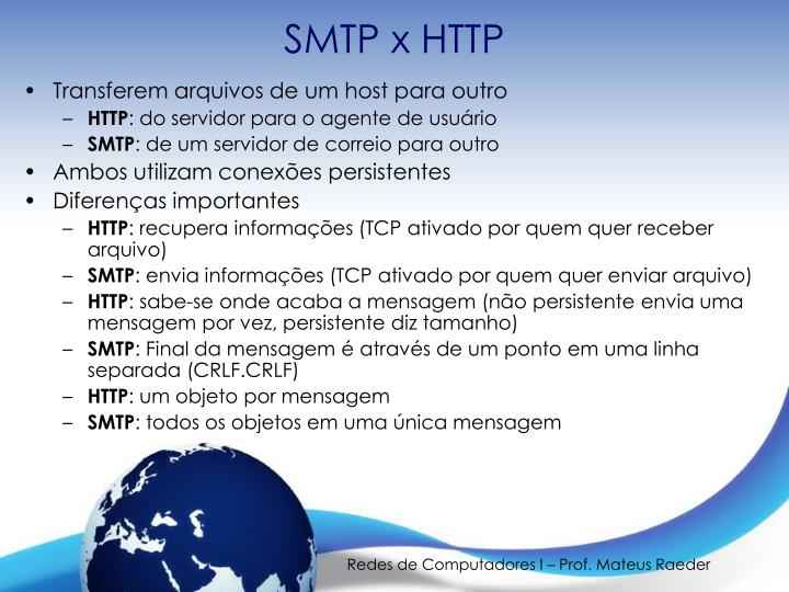 SMTP x HTTP