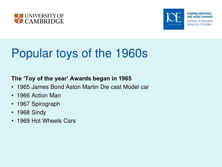 Popular toys of the 1960s