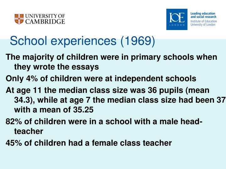 School experiences (1969)