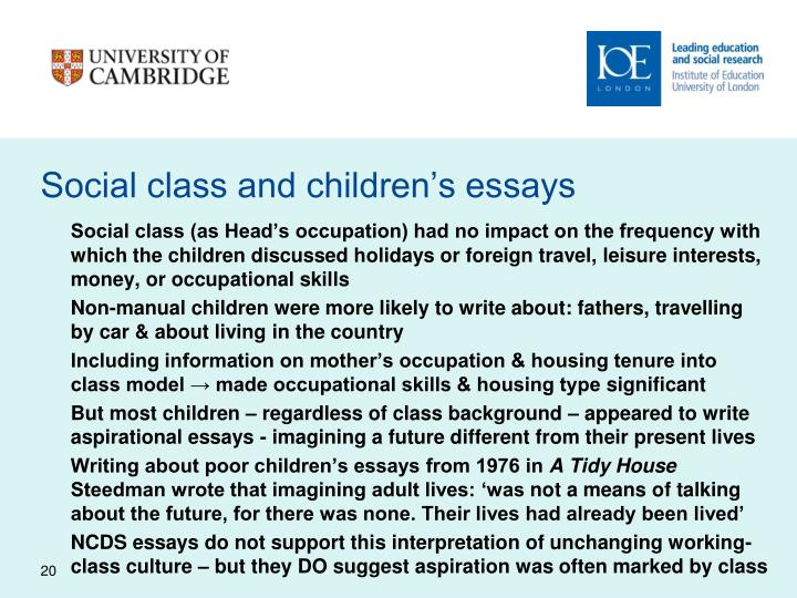 Social class and children's essays
