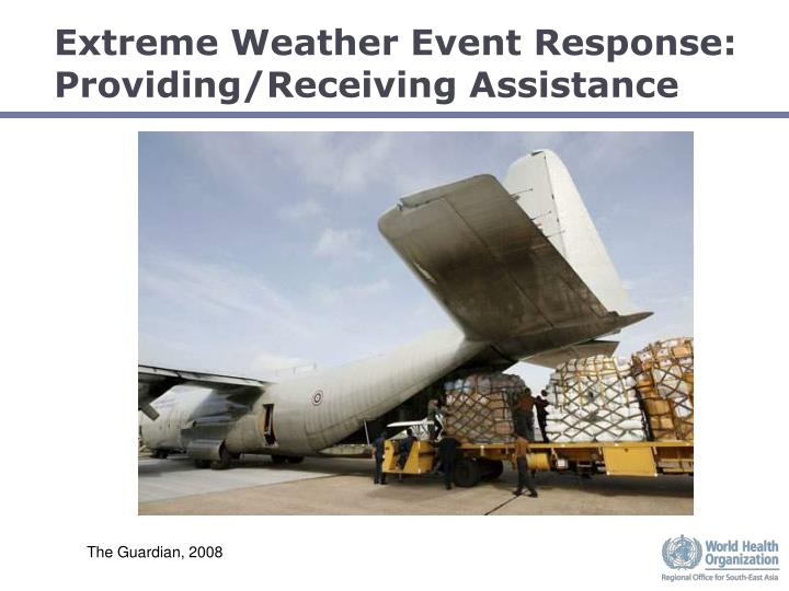 Extreme Weather Event Response: Providing/Receiving Assistance