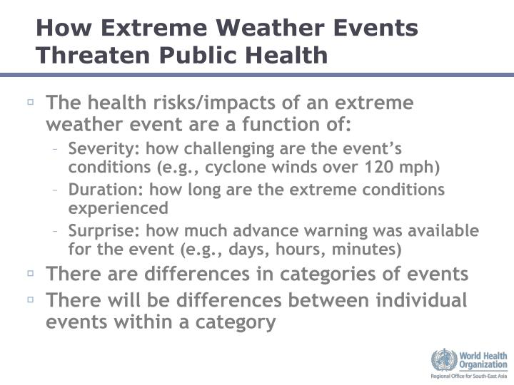 How Extreme Weather Events Threaten Public Health